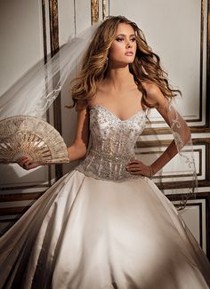 Eve of Milady Couture Collection Style 4294 Antique, Ivory or White! I like the Antique
