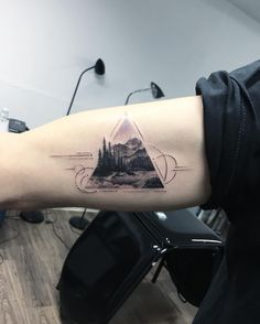 Geometric nature tattoo by evakrbdk