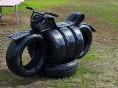 recycled tire motorcycle