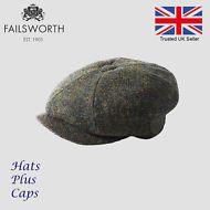 3c8bb5ef0542f Hats Plus Caps · Failsworth Carloway Dark Green HarrisTweed Newsboy Peaky  Blinders Gatsby Cap Peaky Blinders