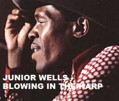 "Today (January 15, 16 years ago) Amos Wells Blakemore Jr. a.k.a. Junior Wells, "" the Godfather of The Blues"", passed away. He is remembered. To watch his 'Portrait' 'Blowing In The Harp' in a large format, to hear 'Your 10 Most Favorite Junior Wells Tracks' on Spotify go to >>http://go.rvj.pm/ek"