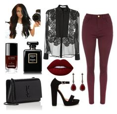 """""""Sin título #14"""" by starnaomy on Polyvore featuring moda, Givenchy, Yves Saint Laurent, Lime Crime, Chanel y Annoushka"""