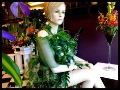 The Ivy Vine Dress - Window Display by Melton Florist 2011