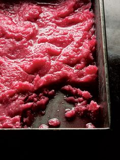 Rhubarb Granita