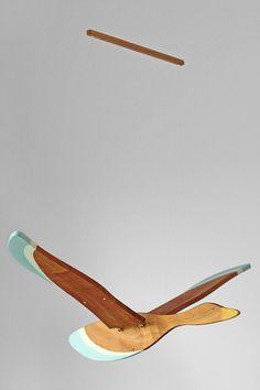 Wooden Flying Bird Mobile by LittleLambCraft on Etsy