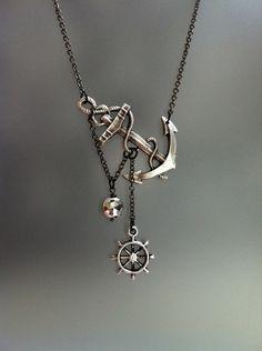 Sea symbols necklace women jewelry fashion anchor