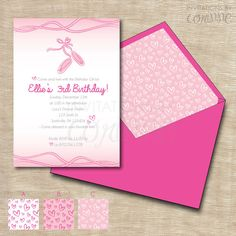Ballet Girls Birthday Party Printable