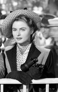 "Ingrid Bergman looking quite ravishing in Hitchcock's ""Notorious"" lmr"