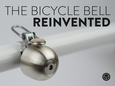 Powerful sound from a trim, precision form—a bell for any bike: modern road, mountain, or vintage townie.