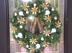 I WANT! I WANT!!!! University of South Florida Bulls Christmas Wreath!!!