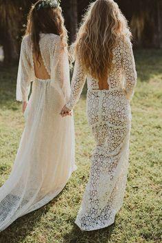 Des robes de mariée en crochet