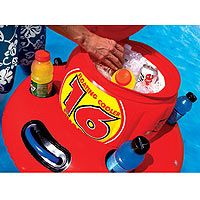(CLICK IMAGE TWICE FOR UPDATED PRICING AND INFO) Floating Water Cooler - SportsStuff Inflatable Small Pool Cooler