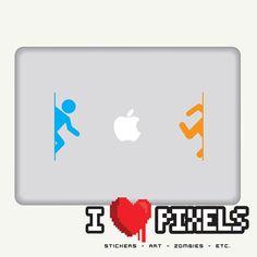 Portal Teleport Sticker  Macbook  iPad  Car by ilovepixels on Etsy, $7,80