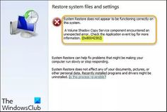 System Restore error 0x80042302 System Restore, Windows System, Restoration, Desktop, Android