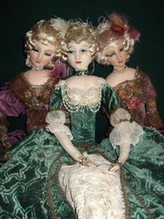 Image detail for -boudoir doll history  These  are  three  Rosalinde  boudoir  dolls  featured on the  history page  of   motherxmas boudoir doll salon