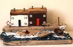 Home Decor - Driftwood Art: Waves