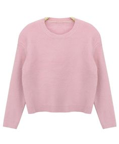Pure Color Rabbit Hair Pullover Sweater