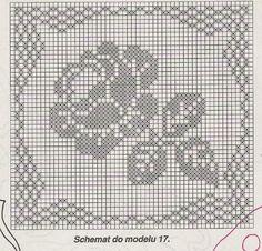 Watch The Video Splendid Crochet a Puff Flower Ideas. Phenomenal Crochet a Puff Flower Ideas. Filet Crochet Charts, Crochet Motifs, Crochet Flower Patterns, Crochet Diagram, Crochet Stitches Patterns, Crochet Squares, Crochet Doilies, Cross Stitch Patterns, Pattern Flower