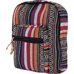 Woven Ethnic Stripe Backpack $22.00