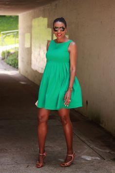 DIY Little Green Dress