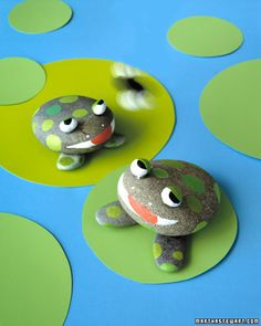 rock crafts: rock frogs...