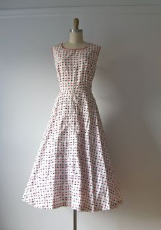 vintage 1950s day dress / Pennies from Heaven