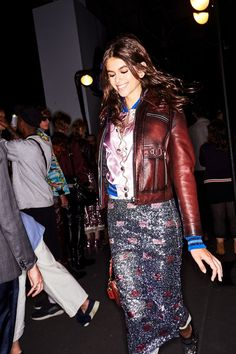 Kaia Gerber backstage at Coach fashion show during NYFW in New York