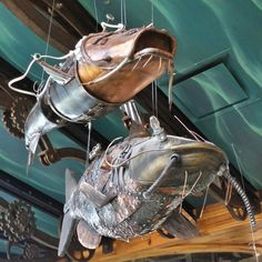 Steampunk catfish at Bass Pro Shops new megastore -- inside The Pyramid in Memphis on the banks of the Mississippi.