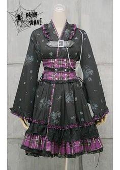 I found 'VISUAL PUNK Gothic Lolita Kimono Dress' on Wish, check it out!