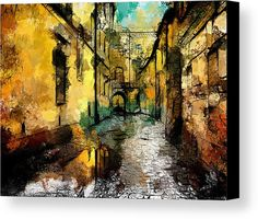 #calle, #agua, #lluvia, #espejo, #agua, #pintura, #arte, #digital,