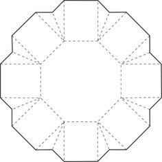 Ideas For Origami Box Octagon Paper Origami Templates, Origami Box, Box Templates, Origami Paper, Origami Flowers, Origami Tutorial, Paper Gifts, Diy Paper, Paper Art
