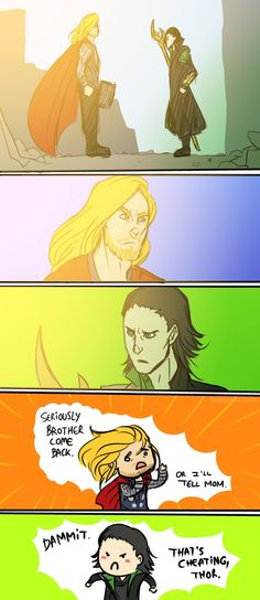 The Avengers, Thor and Loki, Dramatic Scene.