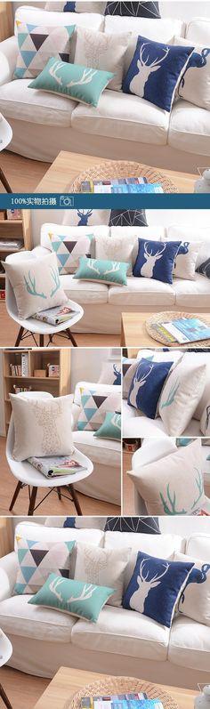 British minimalist Decorative Cushion Covers creative cozy geometric Sofa Cover bird Nordic cotton Cushions Home Decor wholesale