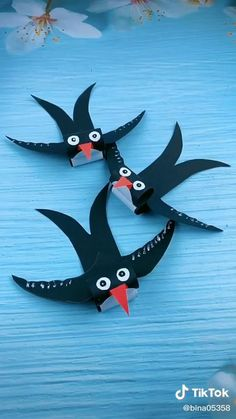 Hand Crafts For Kids, Animal Crafts For Kids, Craft Activities For Kids, Preschool Crafts, Art For Kids, Paper Crafts Origami, Paper Crafts For Kids, Origami Art, Origami Swallow
