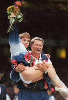 Best Olympic moment ever.  Kerri Strugg, Atlanta 1996.