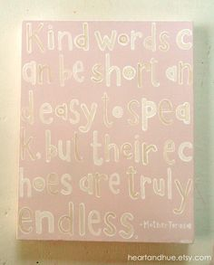 Mother Teresa Quote (11x14 Canvas)