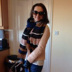 Boucle with Leather Trim by Linda Personal Taste, Spring Jackets, March 2014, Plaid Scarf, Scarves, Gloves, Hats, Leather, Style