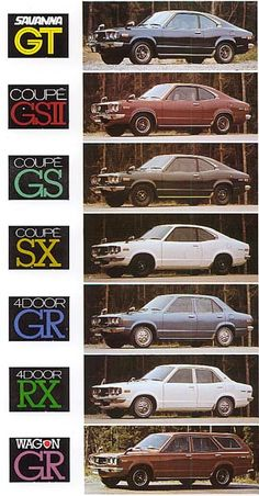 How the Mazda RX three and RX 7 got here to be known as Savanna Auto Retro, Retro Cars, Vintage Cars, Classic Japanese Cars, Classic Cars, Mazda Cars, Japanese Domestic Market, Car Brochure, Aesthetic Japan