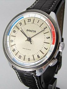 Raketa, the official watch of the Soviet Union, and we've been trawling the vintage markets ever since.