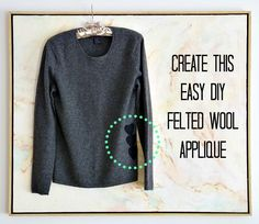 How to repair a hole in a wool sweater; create a felted wool patch or applique to add style to a plain sweater. How to add a needle felted wool design to a sweater.