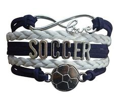 This Sportybella Girls Soccer Jewelry Bracelet is a beautiful and fun way to express your love of Soccer. This makes a Perfect gift for Soccer Teams, Soccer Players & Soccer Coaches. Details of Bracelet: Soccer Team Colors: Blue & White Size: Soccer bracelets are adjustable, 5-7 Inches Adjustable Length Material: Leather and wax cords with antique silver alloy …