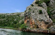 Zrmanja river, sailing inland  from Obrovac, Croatia