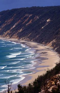 Rainbow Beach, Australia. Famous for its multicolored sand.
