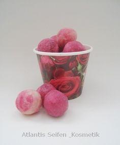 Soap savonettes rose 100% natural, by Atlantis Seifen