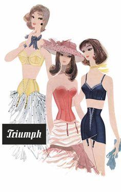 Triumph Lingerie vintage advert