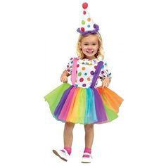 Clowntje met tule rok en diadeemhoedje