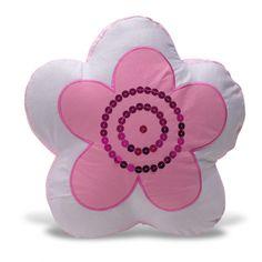 Flower Shaped Applique Sequins Decorative Pillow | Overstock™ Shopping - Great Deals on Throw Pillows