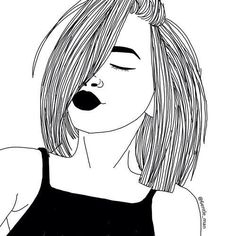 Art girl drawing shared by Mielletanne✿ on We Heart It Tumblr Girl Drawing, Tumblr Drawings, Tumblr Art, Tumblr Girls, Tumblr Hipster, Tumblr Outline, Outline Art, Outline Drawings, Cool Drawings