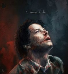 Castiel: I deserve to die. Supernatural Destiel, Supernatural Drawings, Supernatural Bloopers, Supernatural Wallpaper, Sad Supernatural Quotes, Supernatural Pictures, Supernatural Imagines, Decimo Doctor, Sad Angel
