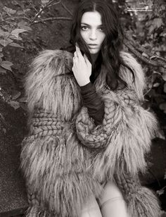 """Desire, the Outsider    Mariacarla Boscono photographed by Paul Wetherell for i-D """"The Inside Outside Issue"""" Fall 2009"""
